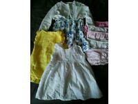 Baby girl 3-6 summer dresses & cardigan