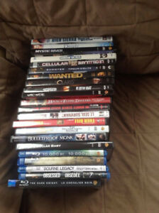 22 Movies Including 5 blu-ray