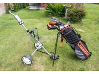 Set of Wilson ultras golf clubs + Trolley
