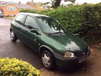 Vauxhall Corsa, V reg ('99) for sale. 78 000 miles, full service history, one owner from new