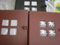 3 NEW LEATHER BOUND PHOTO ALBUMS UNUSED IDEAL FOR WEDDING