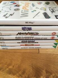 7 Nintendo Wii games bundle