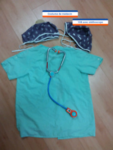 COSTUME DALLOWEEN DE MÉDECIN    10$