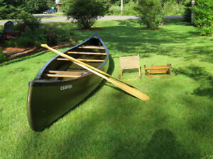 Old Town Camper 16' Canoe Paddles and Cane Back seats included