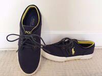 *Ralph Lauren*Navy canvas shoes, Size:UK7/Eur41