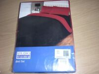 Black and red single duvet cover