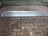 Aluminium greenhouse shelving