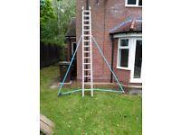Aluminium ladders.
