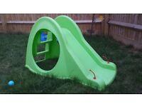 Small plastic toddler slide