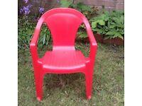 Kids Red Garden Chair