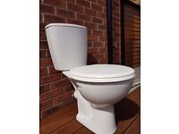 Close Coupled Toilet with Push Button Cistern - Standard Seat