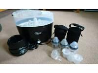 Tommee Tippee black electric steriliser starter kit