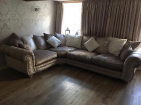 Crushed Velvet Corner Sofa!!!