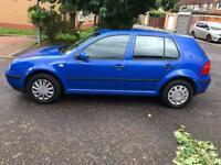 VOLKSWAGEN GOLF 1.6 SE 5dr Auto (blue) 2002