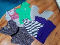 Selection of ladies clothes size S, 8/10 dress, tops, jumper High street brands
