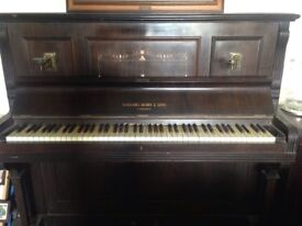 Upright original piano in need of TLC Nathaniel Berry & Sons London collection