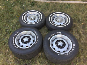 """Dodge Plymouth rallie rims tires 14"""""""