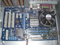PC Parts Intel Quad Core Q8400 CPU 8GB RAM Gigabyte GA-P41T-D3 Motherboard 1333