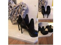 Zara black boots size 4