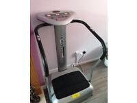 Crazy Fit Vibration Massage Wobble Fat Weight Loss Machine Power Plates Silver