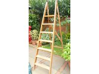 Vintage Wooden Step Ladder 6-7 steps, Shabby chic Shelving, Weddings etc