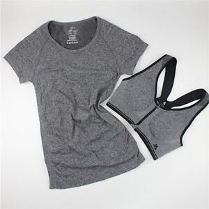 Yoga Sets for Gym Running Sportswear Suit Sport T-shirt + Bra