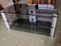 Large, 3 Tier, Quality Glass TV and Audio Stand