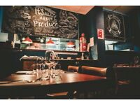 Toasted Restaurant is seeking a Commis Chef