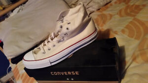 Converse All Star Hi tops - white - size 12