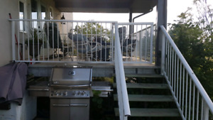 75 + feet of white deck railing for sale