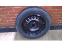 DUNLOP SP 10 TYRE on Vauxhall rim