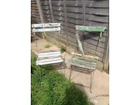 Vintage French wooden chairs