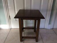 Dark wood side or lamp table