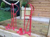 Saddle racks and bridal hooks