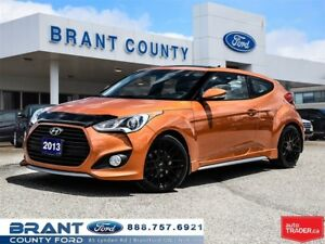 2013 Hyundai Veloster Turbo - CLEAN CARPROOF, ONE OWNER!!