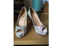 Strassed peep toe Louboutin heels 37.5
