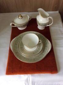 Vintage Royal Doulton Bone China 21 piece Teaset,