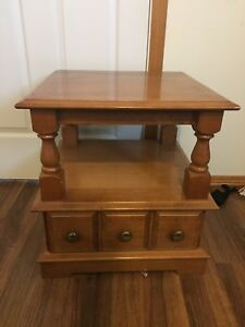Solid Maple End Table & Coffee Table