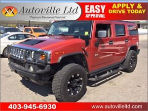 2004 HUMMER H2 LEATHER, 4X4, 6.0L V8 SUNROOF