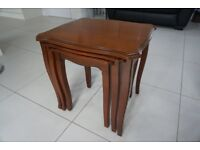 NEST OF 3 TABLES, EXCELLENT CONDITION, MADE BY STAG, INTERLOCKING