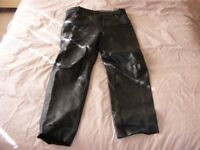 Leather bike trousers