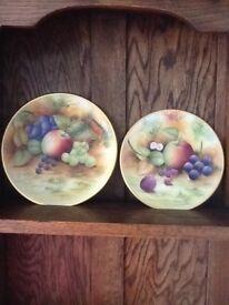 Hand painted fruit plate by J Mottram