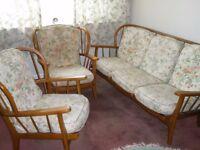 Ercol 3-seater Sofa & 2 Armchairs