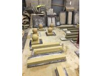 Stone heads cills sills cast concrete art sone