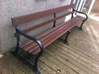 8ft long wooden garden bench