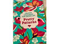 Colouring book pretty patterns for adults