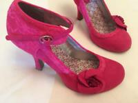 Ruby Shoo shoes, size 7 and matching bag