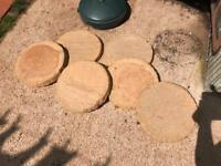 6 sand stone stepping stones