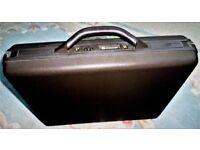 Vintage Delsey Hard Shell Briefcase - Numeric Combination Lock - Black
