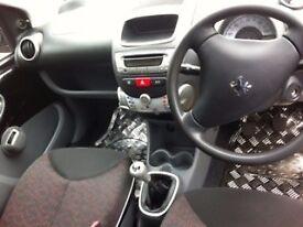 Peugeot 107 verve, factory fitted sports kit. *only 36,000 miles*